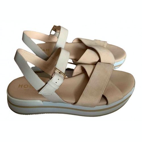 Hogan Pink Leather Sandals