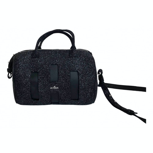 Hogan Black Glitter Handbag
