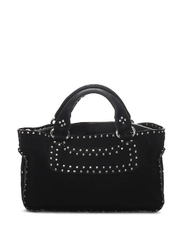 Celine Pre-owned Boogie Studded Tote Bag In Black