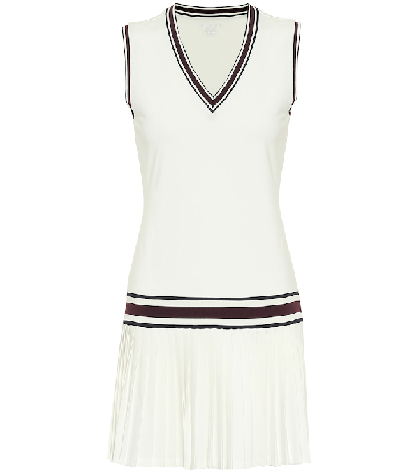 Tory Sport Performance V Neck Tennis Dress In White