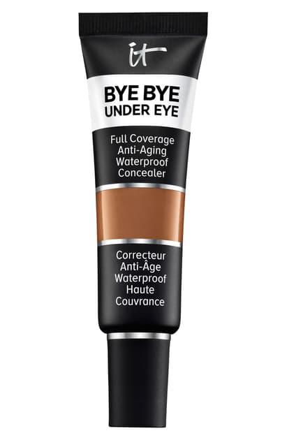 It Cosmetics Bye Bye Under Eye Anti-aging Waterproof Concealer, 0.4 oz In 43.0 Deep Honey W