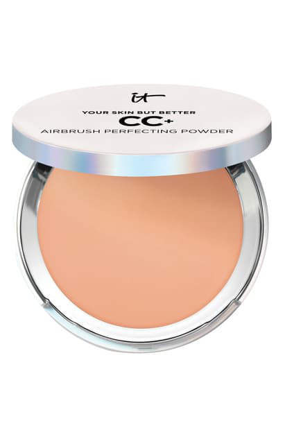 It Cosmetics Your Skin But Better Cc+ Airbrush Perfecting Powder In Tan