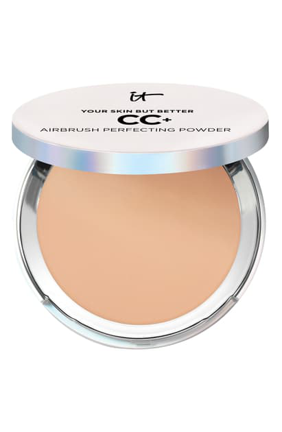 It Cosmetics Your Skin But Better Cc+ Airbrush Perfecting Powder In Medium Tan