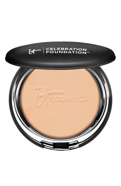 It Cosmetics Celebration Foundation Full Coverage Anti-aging Hydrating Powder Foundation In Medium Tan (w)