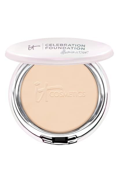 It Cosmetics Celebration Foundation Illumination(tm) Full Coverage Anti-aging Hydrating Powder Foundation In Light (w)