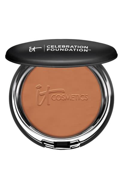 It Cosmetics Celebration Foundation Full Coverage Anti-aging Hydrating Powder Foundation In Deep (n)