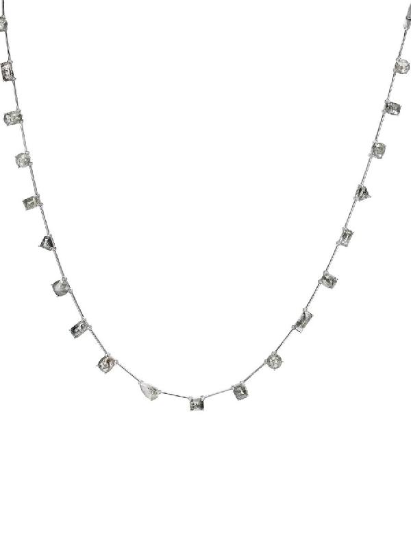 Nina Runsdorf Mix-shape Rough Diamond Necklace In Gray