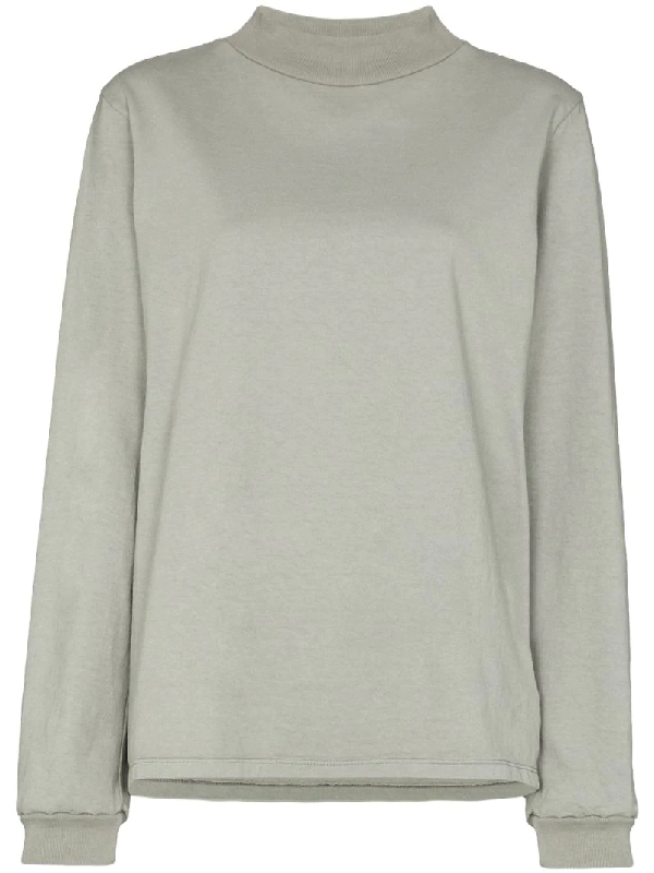 Les Tien High-neck Sweatshirt In Grey