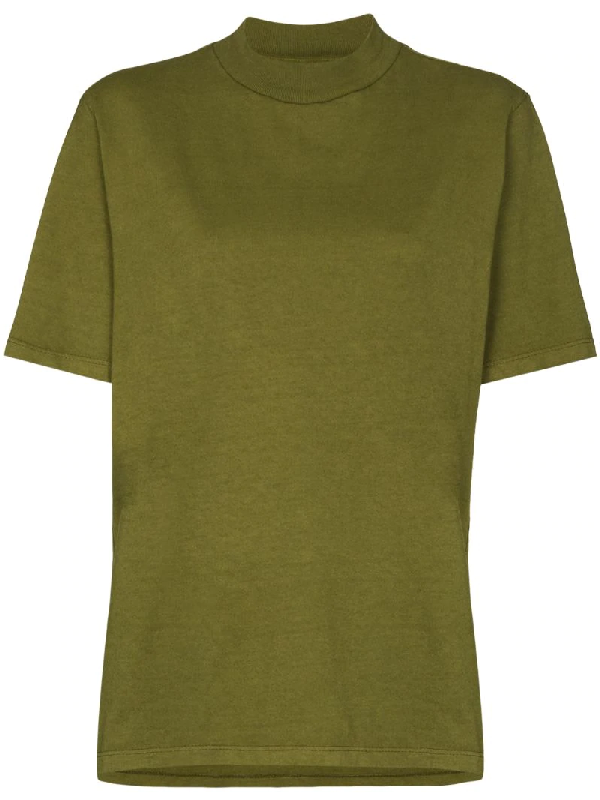 Les Tien High-neck T-shirt In Green