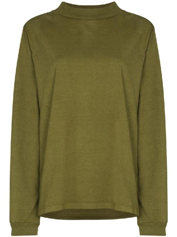Les Tien High-neck Sweatshirt In Green