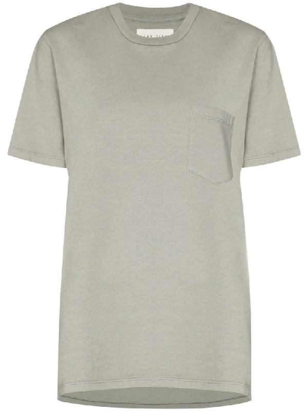 Les Tien Patch-pocket Crew-neck T-shirt In Grey