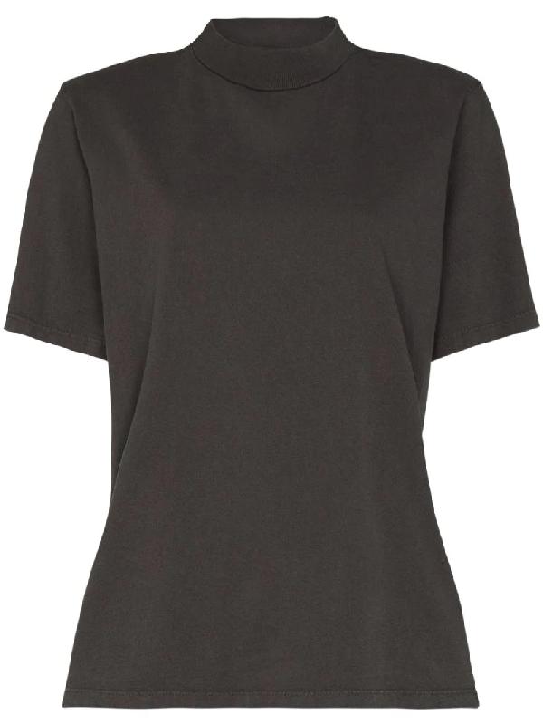 Les Tien High-neck T-shirt In Grey