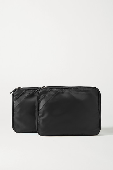 Paravel Set Of Two Nylon And Tpu Packing Cubes In Black