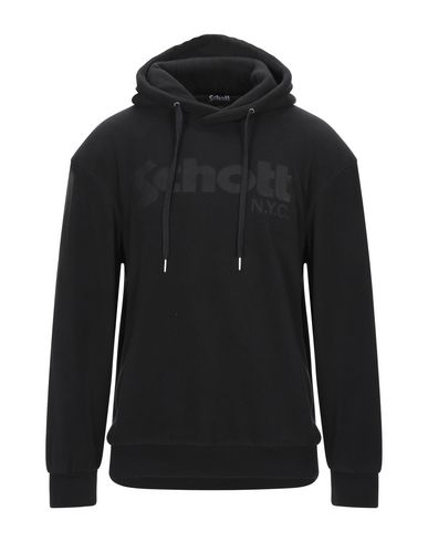 Schott Hooded Sweatshirt In Black