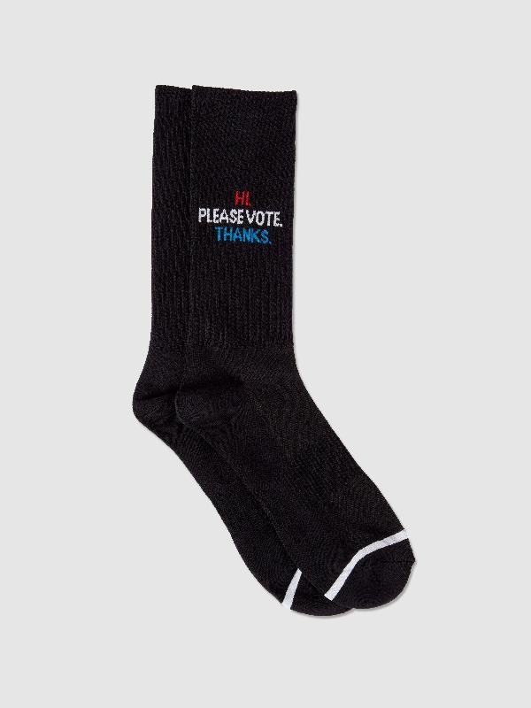 N/a Socks Please Vote Sock In Black