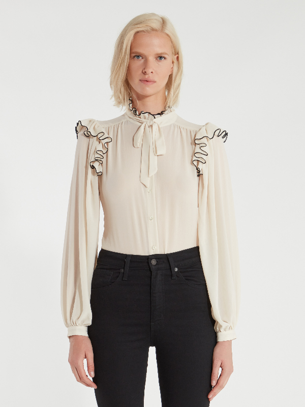 Icons Objects Of Devotion The Silk Secretary Blouse - M - Also In: L, S In White
