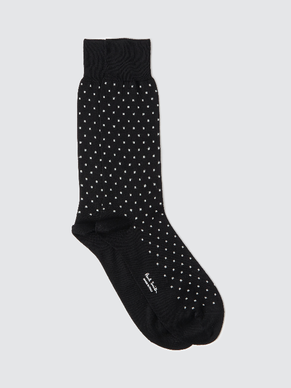 Ps By Paul Smith Pin Dot Sock In Black
