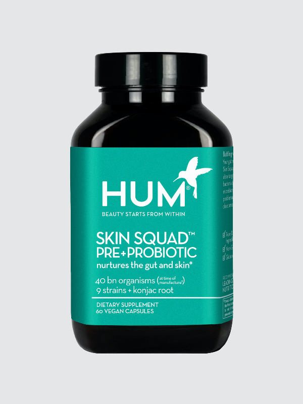 Hum Nutrition Skin Squad™ Pre + Probiotic Clear Skin Supplement In White