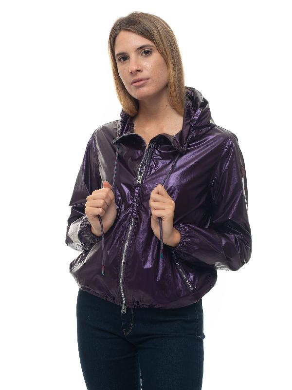 Museum Patty Windbreaker Jacket Violet Nylon Woman In Purple