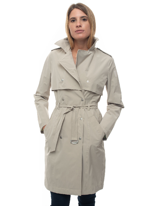 Museum Gwen High-tech Fabric Dust Coat Beige Polyester Woman In Neutrals