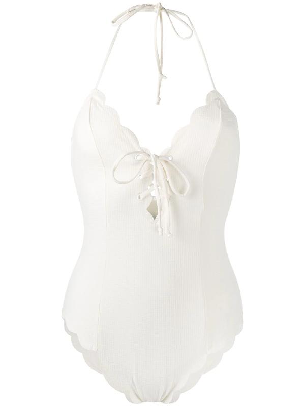 Marysia Broadway Tie Swimsuit In White