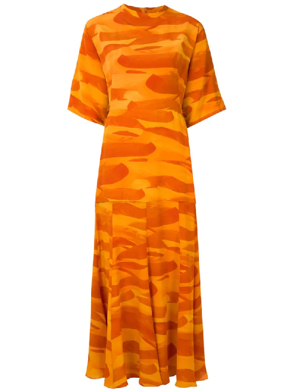 Andrea Marques T-shirtkleid Aus Seide In Orange