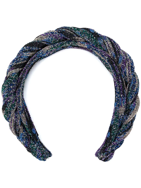 Missoni Braided Headband In Blue