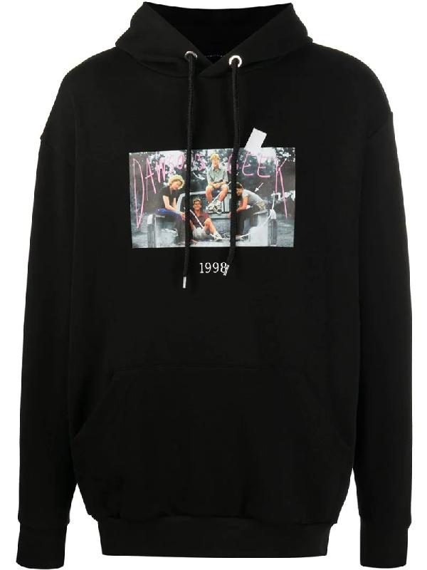 Throwback. 1998 Print Hoodie In Black
