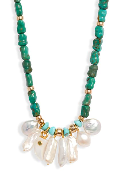 Lizzie Fortunato Isola Necklace | Cotton In Turquoise