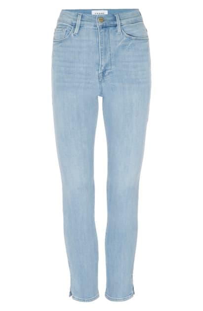 Frame Ali High Waist Ankle Skinny Cigarette Jeans In Carnation