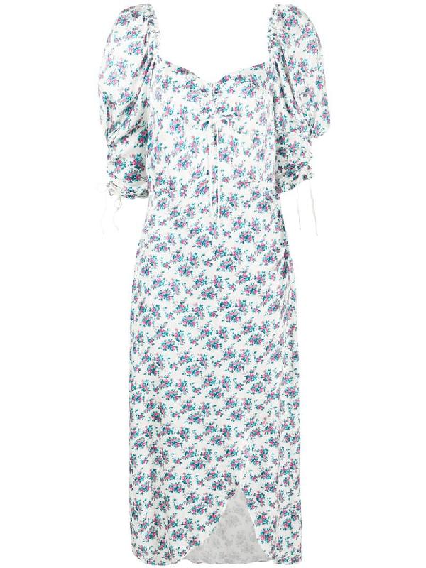 For Love & Lemons Taggart Dress In White