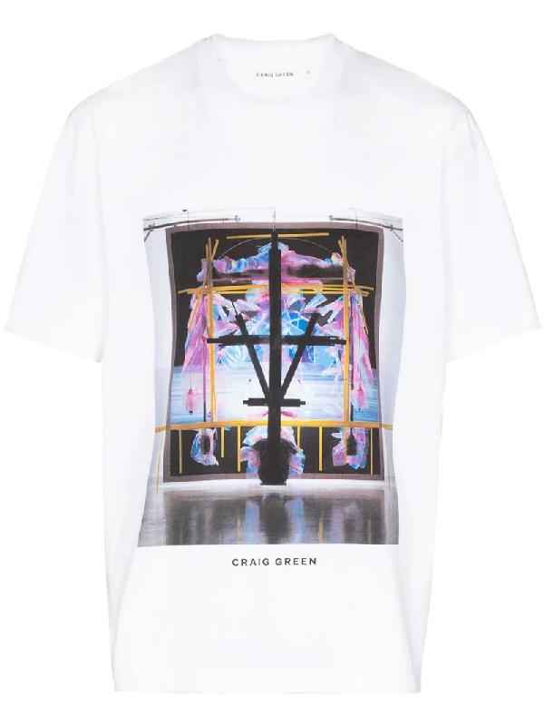 Craig Green Graphic Print Cotton T-shirt In White