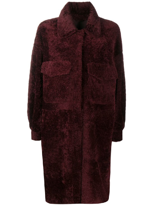 Simonetta Ravizza Single-breasted Coat In Red