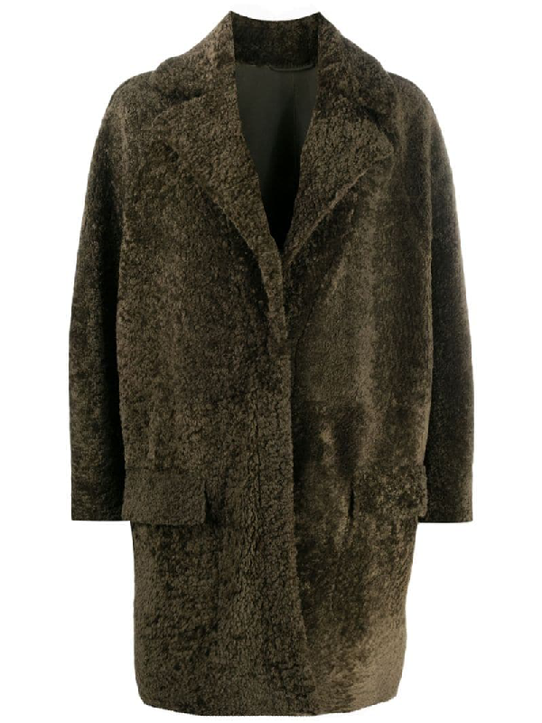 Simonetta Ravizza Relaxed Faux-fur Coat In Green
