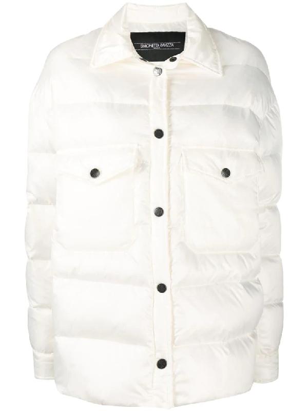 Simonetta Ravizza Padded Oversized Jacket In White