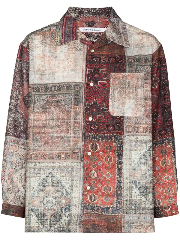 Children Of The Discordance Personal Patchwork Shirt In Brown