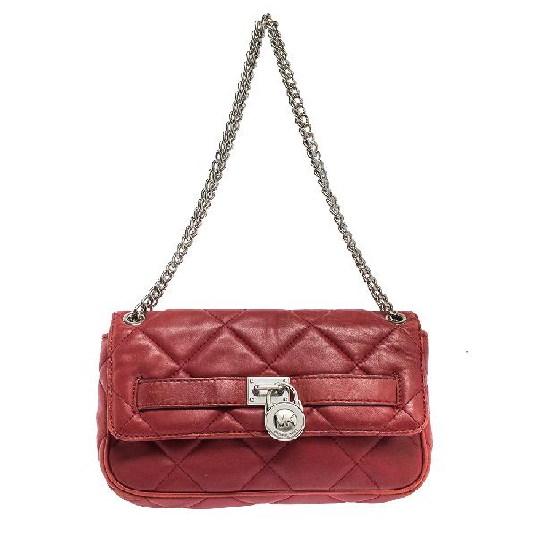 Michael Kors Michael  Red Leather Shoulder Bag