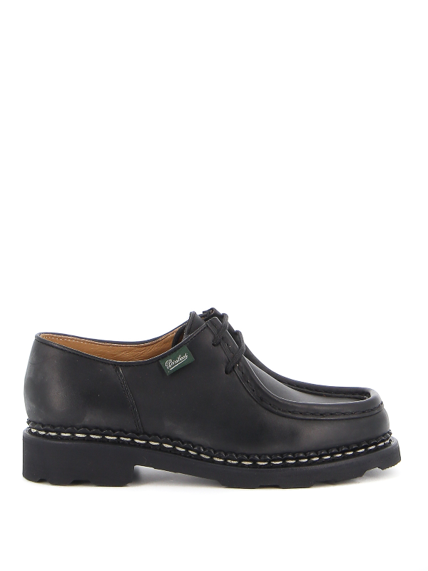Paraboot Michael Smooth Leather Shoes In Black