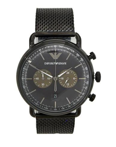 Emporio Armani Wrist Watch In Black