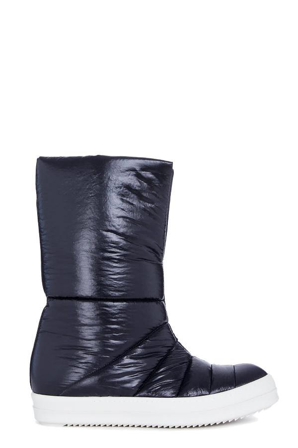 Drkshdw Puffer Boot In Nero/bianco