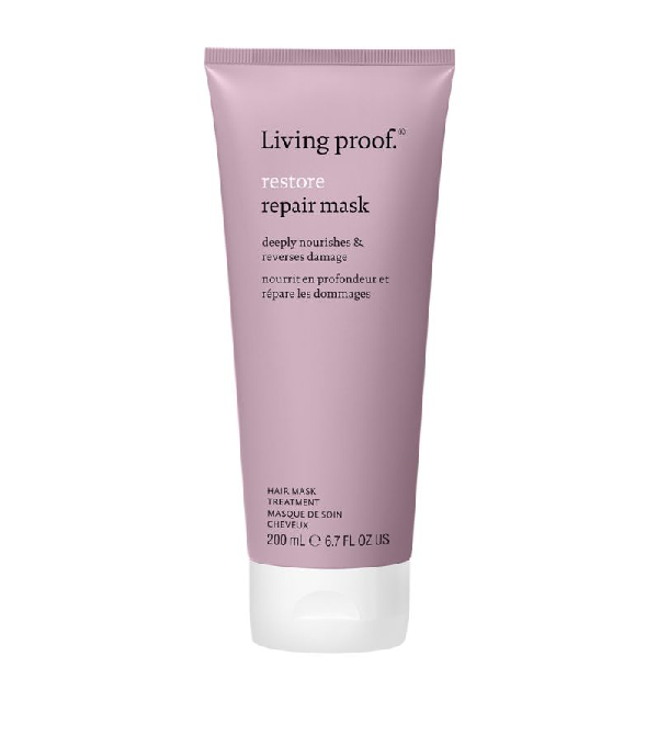 Living Proof Restore Reparative Hair Mask (200ml) In White