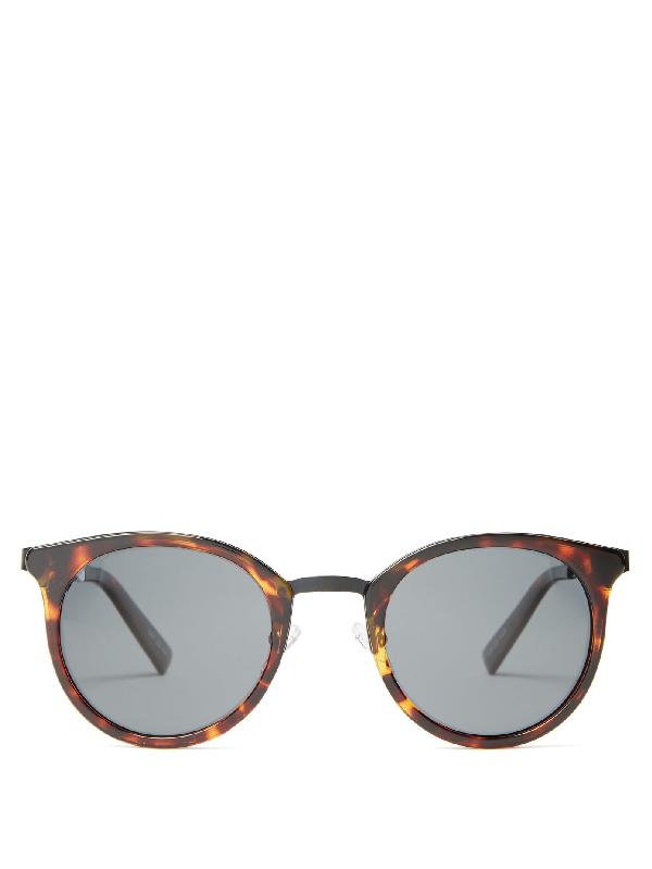 Le Specs No Lurking Round Sunglasses In Tortoiseshell