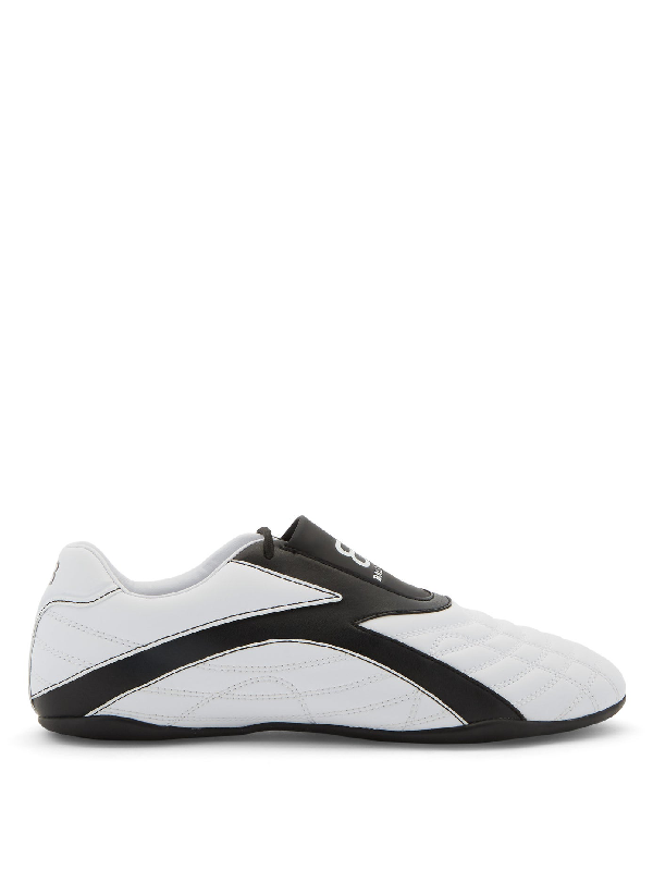 Balenciaga Zen Logo-print Faux Leather Sneakers In White