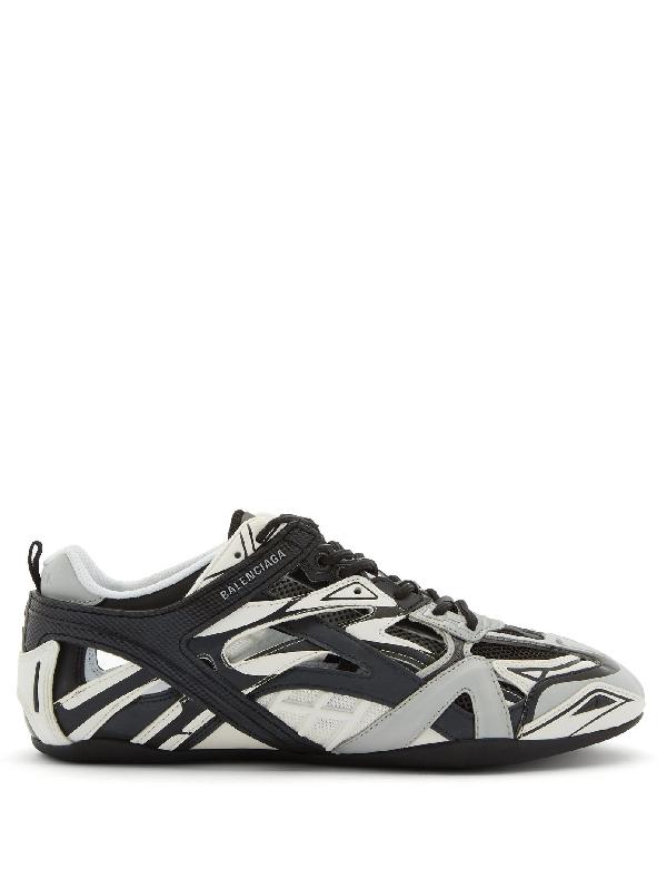Balenciaga Black And Grey Drive Sneakers In Grey Multi