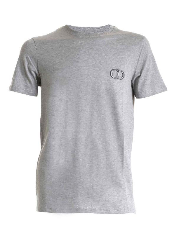 Dior Cd Icon T-shirt In Melange Grey