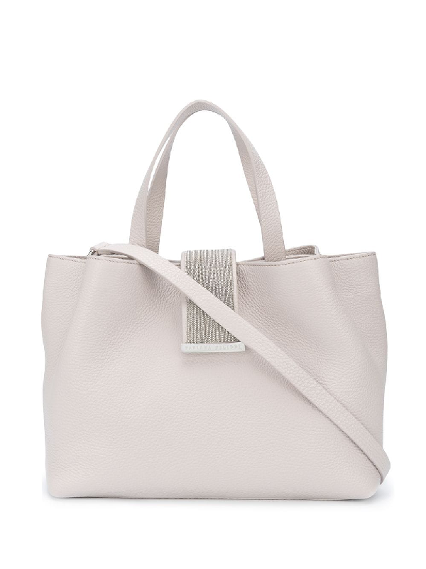 Fabiana Filippi Bead-strap Tote Bag In Pink
