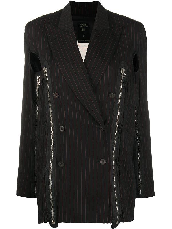 Jean Paul Gaultier 1989 Double-breasted Jacket In Black