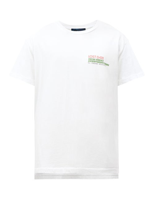 Lost Daze New Mind Corp Printed T-shirt In White