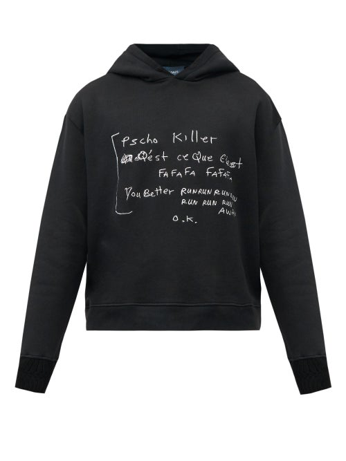 Lost Daze Psycho Killer Printed Hooded Sweatshirt In Black