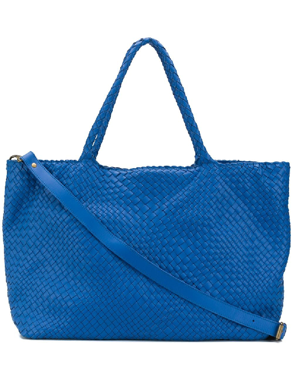 Officine Creative Woven Tote Bag In Blue